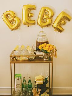 Yellow Bumblebee Themed Honeycomb Baby Shower // Hostess with the Mostess®
