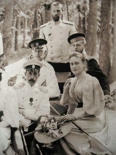 GD Dmitri's father Grand Duke Paul Alexandrovich, uncle Grand Duke Sergei Alexandrovich and aunt Grand Duchess Elizabeth Feodorovna.