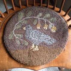 Hooked Rugs | Pinterest | Chair Pads, Primitives And Punch Needle