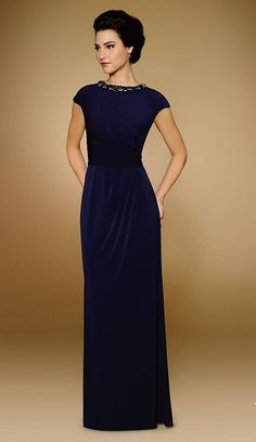 0959936a616 Rina Di Montella 1847-L Stretch Jersey Evening Gown