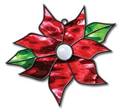 www.spectrumglass.com stained-glass img pattern_products Poinsettia.jpg