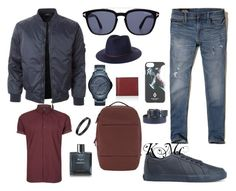 """""""Untitled #98"""" by kiera523 on Polyvore featuring Topman, Hollister Co., Marcelo Burlon, Brixton, Armani Jeans, LE3NO, Armani Exchange, Tom Ford, Chanel and Valextra"""