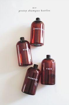 From ALMOST MAKES PERFECT: Shampoo bottles #adelinecrafts #getcreative