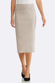ecbdf1191b Yellow Shadow Stripe Midi Skirt Below The Knee Cato Fashions   Haven ...