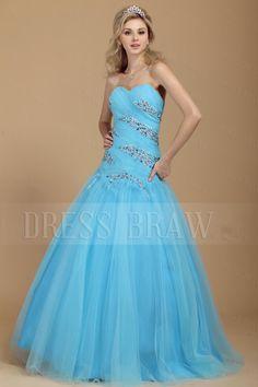 A Line Sweetheart Floor Length Beading Dashas Prom Ball Gown Dress & elegant Prom Dresses Prom Dress 2014, Tulle Prom Dress, Ball Gown Dresses, Prom Dresses Blue, Event Dresses, Prom Party Dresses, Quinceanera Dresses, Occasion Dresses, Pretty Dresses