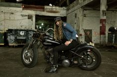 Nina Kaplan, Brooklyn, grew up around motorcycles in Northern California. Her father taught her how to ride.