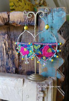 Tropical Flower Earrings Boho Earrings Pretty by AllThingsPretty