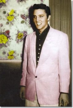 More Elvis in pink for the bathroom.  We're still picking the right pink.