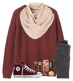 """""""10/03/16 """" by kari-luvs-u-2 ❤ liked on Polyvore featuring Toast, AG Adriano Goldschmied, Converse, Bobbi Brown Cosmetics, Casetify, Urban Decay, NARS Cosmetics, Jules Smith, Therapy and Olivia Burton"""