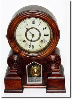 "antique clocks | Antique Ingraham Clock Company ""Dakota"" Model Clock Mantel Clocks, Old Clocks, Antique Clocks, Antique Watches, Clock Shop, Antique Stores, Living Furniture, Vintage Antiques, Vintage"