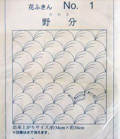 felt cafe: my second sashiko sampler, nowaki pattern