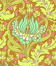 Amy Butler Temple Tulips Cinnamon Fabric