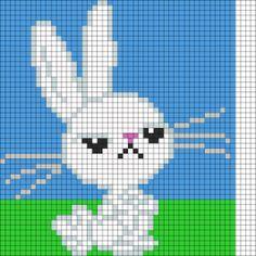 """Mlp Kandi Patterns   Mlp Pony Bead Patterns   Patterns for Kandi Cuffs """"Angel Bunny"""""""