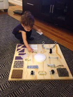 Sensory board for little man