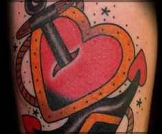 Anchor Tattoos heart