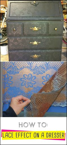 Revive an Old Piece of Furniture by Learning How to Paint a Lace Effect on a Dresser