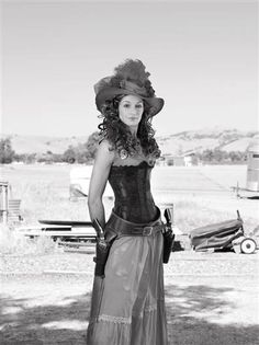 """Belinda   Watsonville, Calif.  Pair of Ruger Vaqueros .45 Long Colt     portrait appears at the very beginning of Lindsay McCrum's book """"Chicks with Guns."""""""