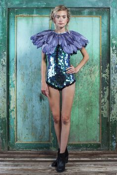 PARADISO Collection   FIREBIRD Feather Cape   more colours available   Rosa Bloom