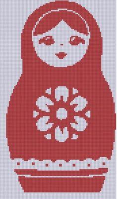 Russian Doll Cross Stitch Pattern