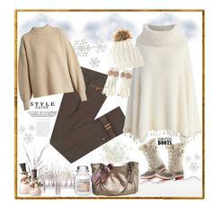 """""""Winter Boots - cozy Style"""" by firstclass1 ❤ liked on Polyvore featuring SOREL, Diverso, Home Decorators Collection, Chicwish, Amara, National Tree Company, Yankee Candle, Betsey Johnson, Coach and The Row"""
