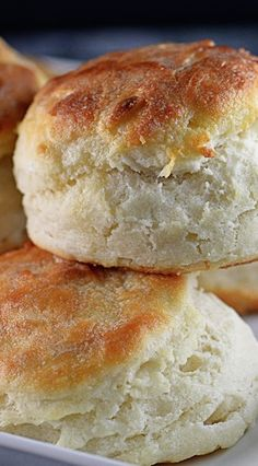 Angel Biscuits...I use butter or organic leaf lard in place of shortening (which I don't use anymore)...delicious.