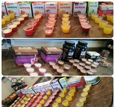 I like to do Advocare Taster parties for fun! This is seperate from the actual mixers I do as well. I buy the little cups from Party City and it takes only 1 packet to make 5 little cups. I just do this so people can come mingle and try different flavors. We have a blast each time! I have out my Impact magazines and product catalogs and also my board that shows the 4 ways to get paid. I also have the CU24 dvd playing in background.