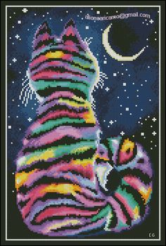 Click to close image, click and drag to move. Use arrow keys for next and previous. Cat Cross Stitches, Counted Cross Stitch Patterns, Free Cross Stitch Charts, Modern Cross Stitch Patterns, Cross Stitching, Beaded Cross Stitch, Cross Stitch Embroidery, Stitch Design, Bead Loom Patterns