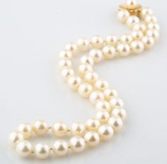 PEARL STRAND NECKLACE WITH 14K YELLOW GOLD CLASP #Unbranded #StrandString
