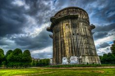 Flakturm (flak tower) is an anti-air defense tower from the WWII. This is the Augarten G-Tower in Vienna.