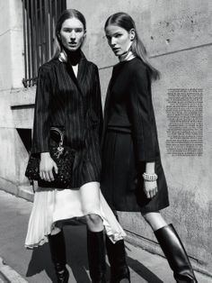 Parisiennes: Manuela Frey, Alisa Ahmann in DIOR Pre Fall 2014 by Claudia Knoepfel & Stefan Indlekofer for Dior Magazine #6