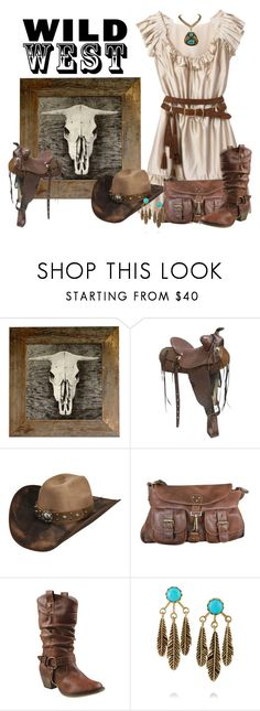 """Wild West"" by jackie22 ❤ liked on Polyvore featuring Archival Décor, Bailey Western, Barneys New York, Refresh, Pamela Love and rustic"