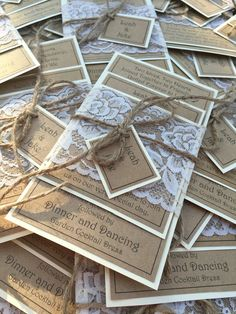 Cream and latte ... A beautiful palette of Colours for your vintage invitations