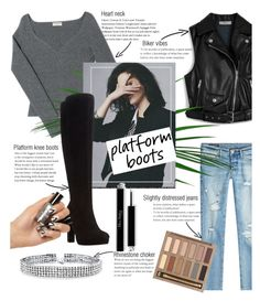 """""""Platform boots"""" by vivistyle21 on Polyvore featuring Mulberry, Balenciaga, True Religion, Dune, Bling Jewelry and Urban Decay"""