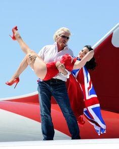 Dita Von Teese Photos Photos: Richard Branson & Virgin Atlantic Celebrate 10 Years Of Flying To Las Vegas Richard Branson, Best Airlines, Pin Up Outfits, Poses For Photos, Dita Von Teese, Cutout Dress, Female Poses, Gianni Versace, Celebs