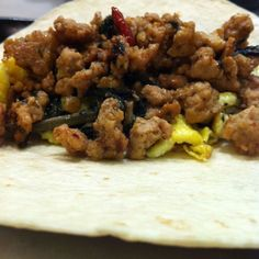 Taco Pad Kaprow Moo--Thai spicy basil pork taco