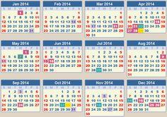2014 Calendar with Holidays List | CALENDAR 2014: School terms 2014 and school holidays 2014 South Africa