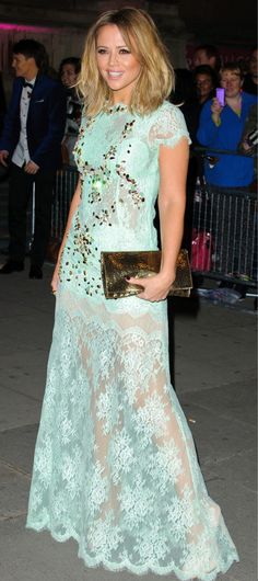 Kimberley Walsh // Girls Aloud wears a dress similar to one I own - keeping this pic to remind me!