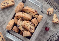 Cranberry, Orange & White Chocolate Biscotti
