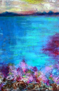 """Telise Rodelv """"Water Music"""" oil/cold wax"""