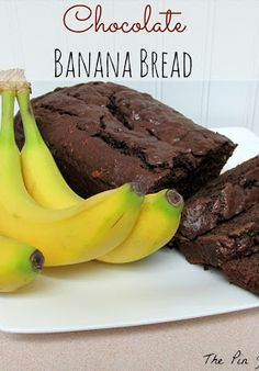 Chocolate Banana Bread, need I say more?!  Make sure you bake it for the complete time.  The top looked done but the middle wasn't quite there yet.