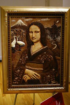 Mona Lisa Pictures : Funny and Artistic Imagination Images Chocolate Week, I Love Chocolate, Chocolate Heaven, Chocolate Lovers, Chocolate Dreams, Imagination Images, Chocolate Showpiece, Mona Lisa, Creative Food Art