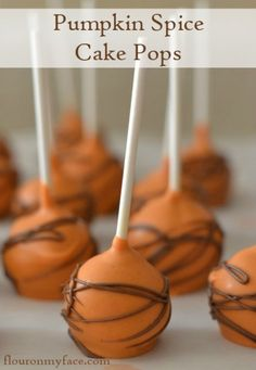 Pumpkin Spice Cake Pops are perfect for a Fall Baby Shower or any Fall themed party.