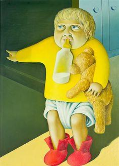 Joseph with Bear and Bottle New Zealand Art, Contemporary Artwork, Art Education, New Art, Aurora Sleeping Beauty, Portrait, Disney Princess, Kiwi, Disney Characters