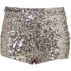 Silver Sequin Knickers ❤ liked on Polyvore