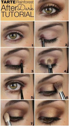 Image via We Heart It #eyemake-up #goldeyeshadow #make-uptutorial