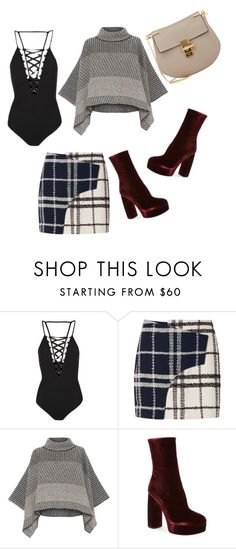 """""""Untitled #991"""" by crazybookladysuzejn ❤ liked on Polyvore featuring Topshop, 10 Crosby Derek Lam, Piazza Sempione, Miu Miu and Chloé"""