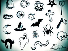 halloween tattoo flash sheet - Google Search