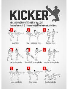 Street fighting, boxing, Muay Thai, Krav Maga, Kick Boxing fitness routine, easy