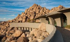 Desert House in Joshua Tree, California designed by American architect Kendrick Bangs Kellogg as an integral part of the Californian desert (bertc)