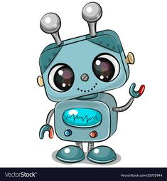 Cartoon Robot isolated on a white background. Cute Cartoon Robot isolated on a white background stock illustration Cartoon Cartoon, Robot Illustration, Illustrations, Robot Background, Background Patterns, Environmental Crafts, Robot Clipart, Cute Clipart, Robot Cute